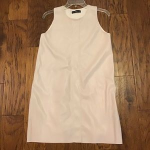 ZARA Knit Shift Dress Medium soft ivory